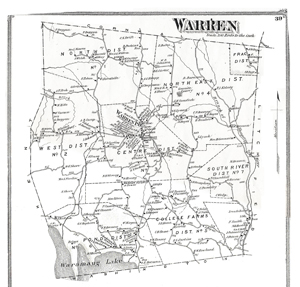 Old map of Warren